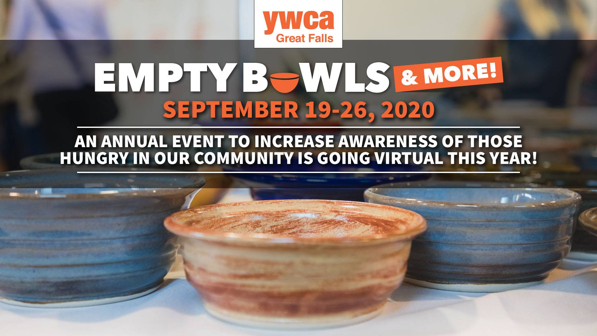 Empty Bowls & More! Online Auction clock September 19 at 8 AM – September 26 at 11:45 PM